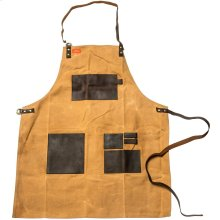 Grilling Apron - Brown Canvas & Leather - L
