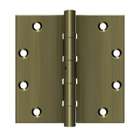 """5""""x 5"""" Square Hinges, Ball Bearings - Antique Brass"""