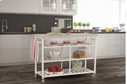 Kennon Kitchen Cart - White With Granite Top Product Image