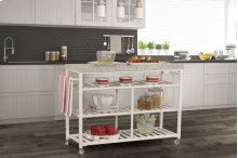 Kennon Kitchen Cart - White With Granite Top