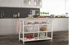 Kennon Kitchen Cart - White With Granite Top