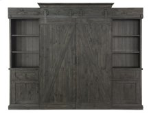 Farmhouse Barn Door Entertainment Wall