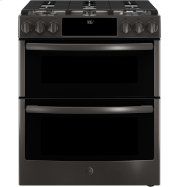 """GE Profile™ Series 30"""" Slide-In Front Control Gas Double Oven Convection Range Product Image"""