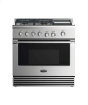 "36"" Dual Fuel Range: 4 Burners With Griddle Product Image"