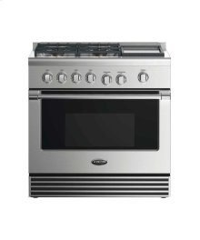 "36"" Dual Fuel Range: 4 Burners With Griddle"
