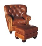 Tufted-Back Fireside Chair & Ottoman Product Image