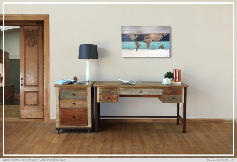 Charmant Writing Desk, Reclaimed Wood Finish