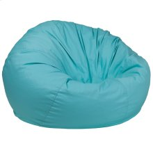 Oversized Solid Mint Green Bean Bag Chair