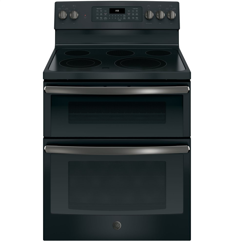 """GE(R) 30"""" Free-Standing Electric Double Oven Convection Range  BLACK SLATE"""