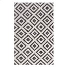 Alika Abstract Diamond Trellis 5x8 Area Rug in Charcoal and Ivory Product Image