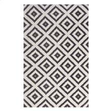 Alika Abstract Diamond Trellis 5x8 Area Rug in Charcoal and Ivory