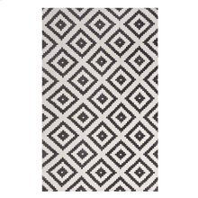 Alika Abstract Diamond Trellis 5x8 Area Rug in Charcoal and Ivory