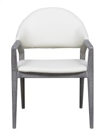 Emerald Home Carrera Arm Chair W/upholstered Seat and Back White D905-23