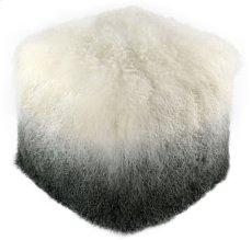 Tibetan Sheep White to Grey Pouf Product Image
