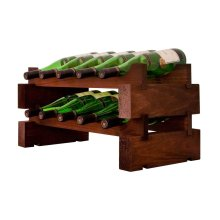 2 x 5 Bottle Modular Wine Rack (Stained)