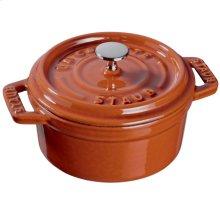 Staub Cast Iron 0.25-qt Mini Round Cocotte, Burnt Orange