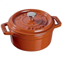 Staub Cast Iron 0.25-qt Mini Round Cocotte, Burnt Orange