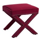 Reese Pink Velvet Ottoman Product Image