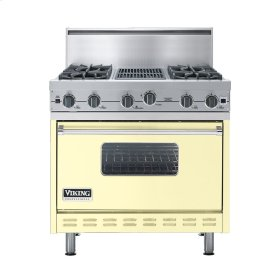 "Lemonade 36"" Open Burner Commercial Depth Range - VGRC (36"" wide, four burners 12"" wide char-grill)"