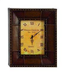 Leather Rectangular Clock