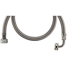 Braided Stainless Steel Washing Machine Hose with Elbow (4ft)