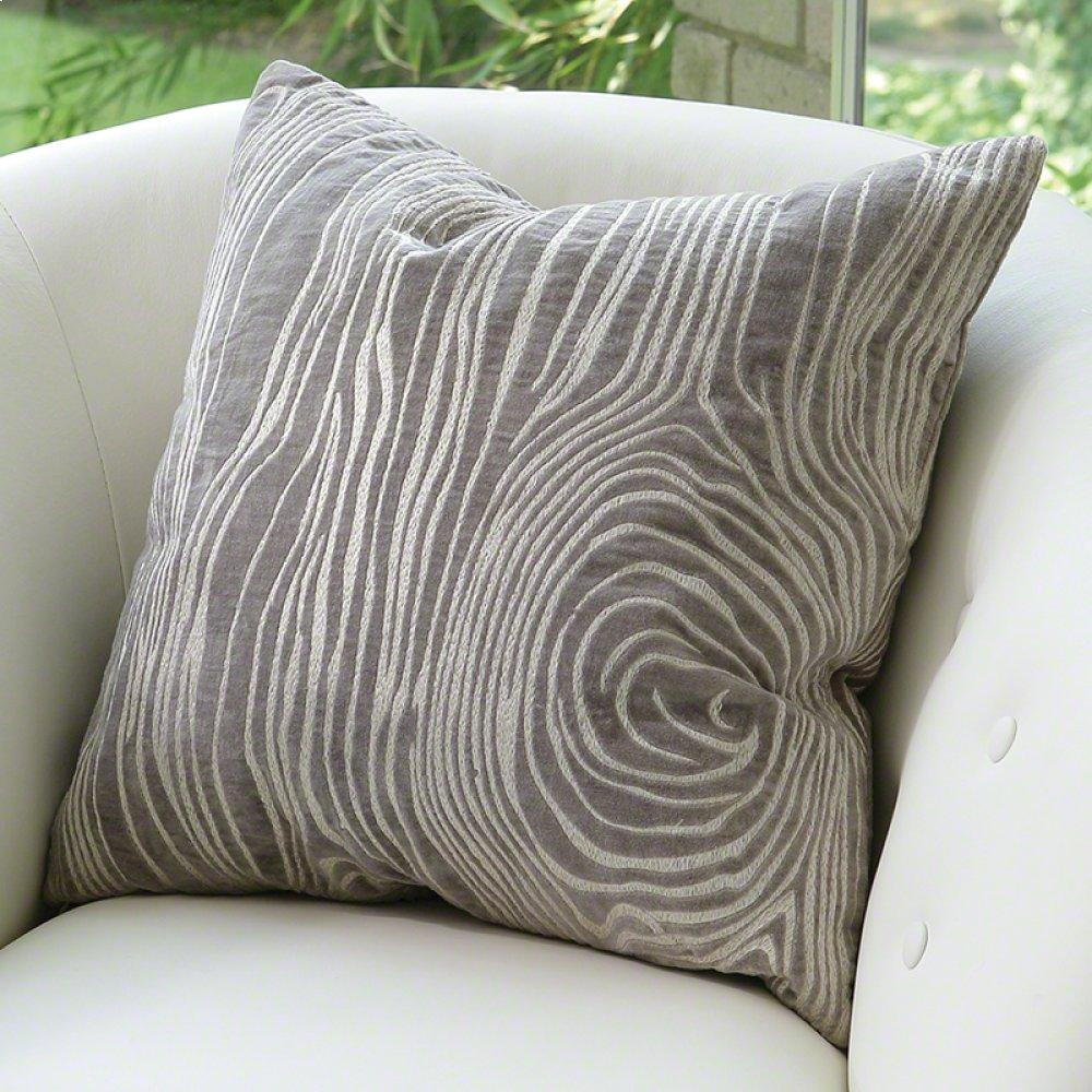 Faux Bois Pillow-Grey