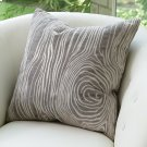 Faux Bois Pillow-Grey Product Image