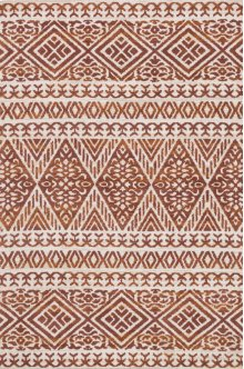 Mh Ant. Ivory / Rust Rug