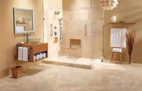 Hidden · Additional Moen Home Care Teak Folding Shower Seat