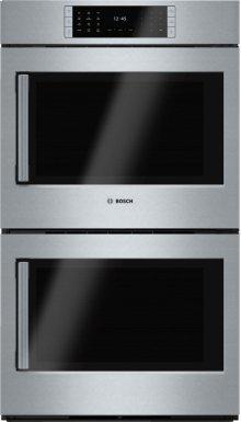 "Benchmark Series, 30"", Double Wall Oven, SS, EU conv./EU conv., TFT Touch Control, Right Swing"