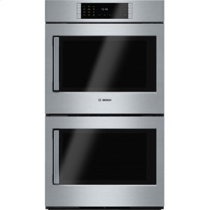 "Bosch BenchmarkBENCHMARK SERIESBenchmark Series, 30"", Double Wall Oven, SS, EU conv./EU conv., TFT Touch Control, Right Swing"