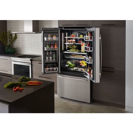 72 Counter Depth French Door Refrigerator With Obsidian Interior French Door Refrigerators