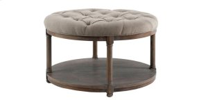 Lorraine Round Upholstery Cocktail Table