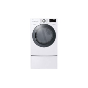 7.4 cu.ft. Smart wi-fi Enabled Gas Dryer with TurboSteam - WHITE