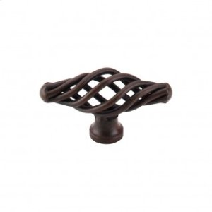 Oval Small Twist Knob 2 1/8 Inch - Patina Rouge