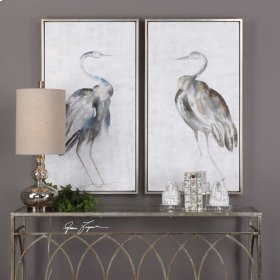 Summer Birds Hand Painted Canvases,