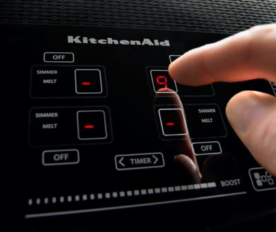 Perfect Hidden · Additional 36 Inch 5 Element Induction Cooktop, Architect® Series  II   Black Hidden. KitchenAid Logo