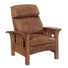 Recliner Bustle Back, Cherry Bow Arm Morris Recliner