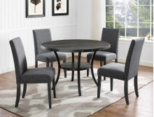 Wallace Melamine Table Dark Grey