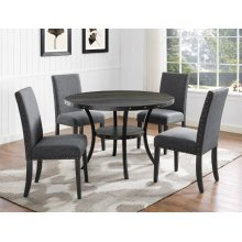 Wallace Dining Chair Dark Grey