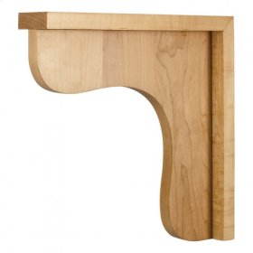 "2-1/2"" X 12"" X 12"" Wood Bar Bracket Corbel, Species: Rubberwood"