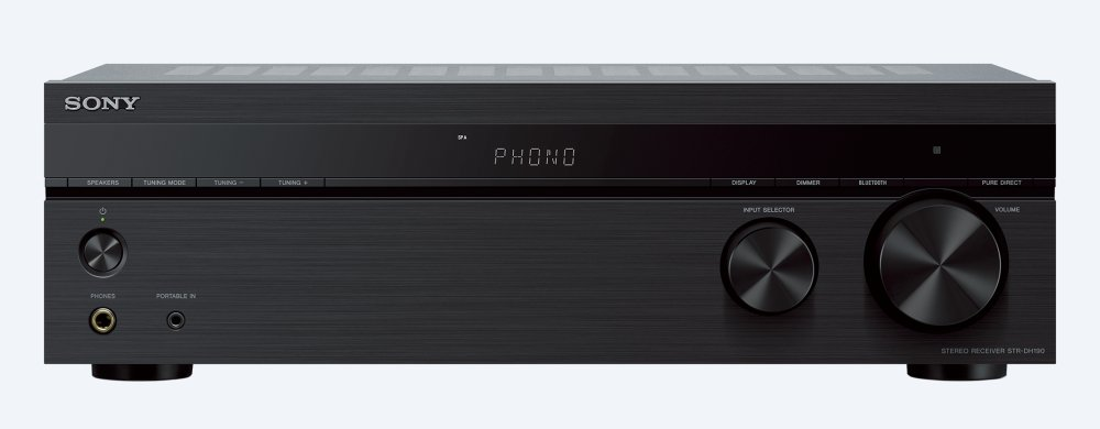 Stereo receiver with Phono input and Bluetooth(R) connectivity