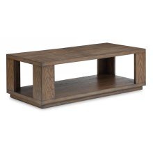 Maximus Rectangular Cocktail Table with Casters