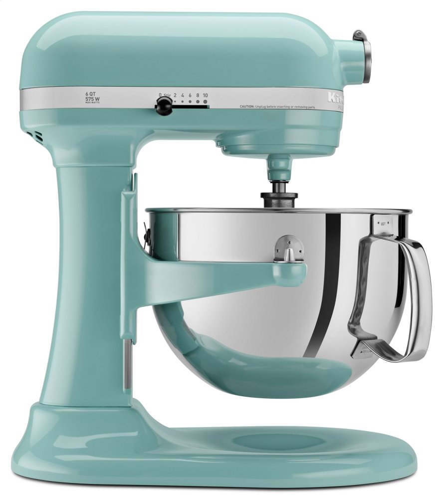 Pro 600 Series 6 Quart Bowl Lift Stand Mixer   Aqua Sky