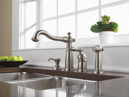 Stainless Single Handle Kitchen Faucet with Spray