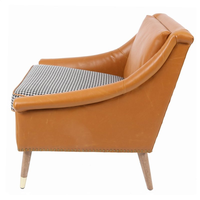 Leather Accent Chairs Metal Legs Caramel.3500034 In By New Pacific Direct In Stillwater Ok Etude Kd Bonded