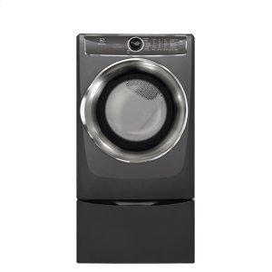 Front Load Perfect Steam Electric Dryer with PredictiveDry and Instant Refresh - 8.0. Cu. Ft. - TITANIUM