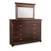 """Hudson Valley 10/Drawer High Dresser 62-1/8""""Wx44-1/2""""Hx20""""D"""