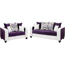 Riverstone Implosion Purple Velvet Living Room Set