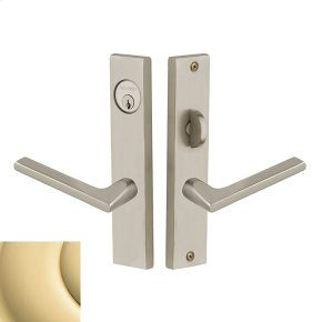 Non-Lacquered Brass Detroit Escutcheon Entrance Set